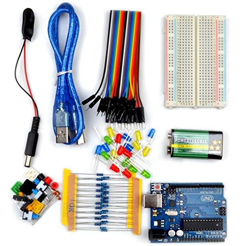 Kuman K22D Light basic learning Starter Kit for Arduino, UNO R3 AVR MCU learner With Uno R3 up 20 components (K22 with UNO R3)