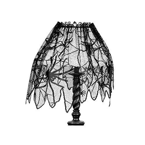ODN Halloween Deko Türvorhang Tür Tisch Fenster Dekoration halbtransparente Lace Spinnennetz Halloween Vorhänge