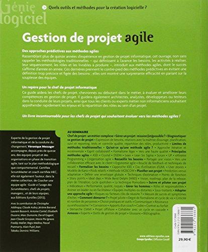 Gestion de projet agile, avec Scrum, Lean, Extreme Programming.
