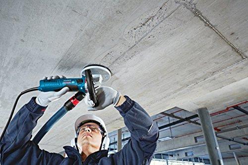 Bosch Professional GBR 15 CA, 1.500 W Nennaufnahmeleistung, 9.300 min-1 Leerlaufdrehzahl, 125 mm Topfscheibe, Ø, Spannschlüssel, 3 x Ersatzbürstenkranz