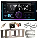 JVC KW-R930BT Bluetooth USB MP3 Autoradio CD AOA2.0 iPhone iPod Doppel Din Einbauset für Ford Focus C-Max Fiesta Transit, Farbe der Radioblende:Anthrazit
