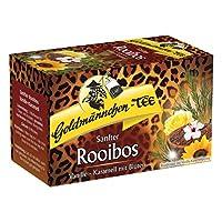 Or bonhomme Thé Rooibos Vanille-Caramel avec fleurs, Rooibos Bos Thé, Tisane dans le sac, 20individuellement versiegelte Sachets de thé