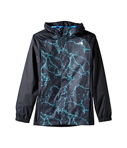 The North Face Boys' Resolve Reflective Jacket Cascade Blue Lightning Print S
