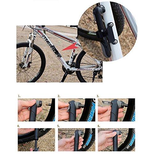 Giwil 120 PSI Mini Fahrradpumpe Set mit klebstofffreiem Lochstopfer Mini Bike Pumpe mit Reifenreparatur-Set 16 in 1 Multifunktionswerkzeug Fahrradwerkzeug Mechaniker Reparatur Tool Kit Fahrrad Reparatur Set Multifunktions Werkzeug für Presta & Schrader - 5