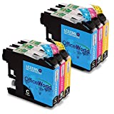 OfficeWorld LC223 Compatibile Cartucce Brother LC223 per Brother DCP-J4120DW DCP-J562DW MFC-J5320DW MFC-J4420DW MFC-J4620DW MFC-J4625DW MFC-J5620DW MFC-J5625DW MFC-J480DW (2 Ciano,2 Magenta,2 Giallo)