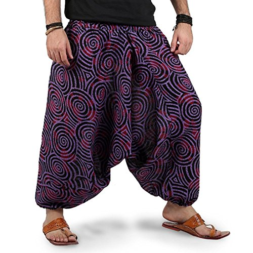 Harem Pants For Women Free Size, Cotton Rajasthani Hand Printed 1 Pack...