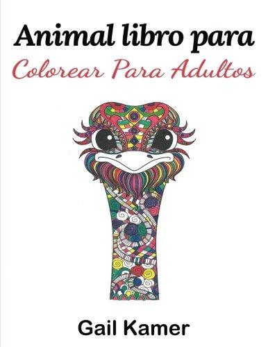 Animal Libro Para Colorear Para Adultos