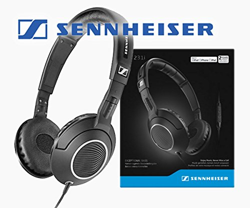 Sennheiser HD 231i On-Ear Headphones/Headset with Exceptional BASS and Inline Microphone & Remote for iOS Devices 51ODIIHFTmL  Smart Headphones 51ODIIHFTmL