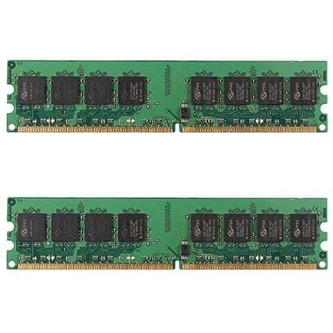 Module de memoire - SODIAL(R)2GB (2x1GB) DDR2 533MHZ PC2 4200 240 broches DIMM de memoire RAM PC de bureau non-ecc
