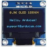 ARCELI 0,96 Zoll OLED-Modul 12864 128x64 Blau Weiß SSD1306 Treiber I2C Serielle Selbst Leucht Display Board für Arduino Raspberry PI