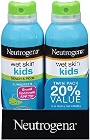 Neutrogena Wet Skin Kids Sunscreen Spray, Twin Pack
