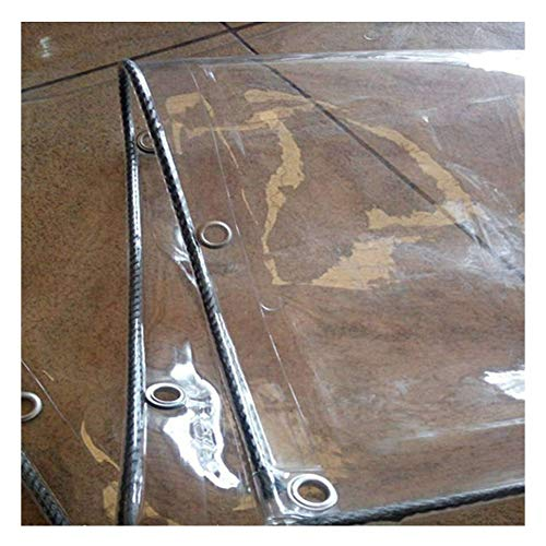 ZHANWEI Plane Gewebeplane Schutzplane Abdeckplane Zeltplane Schwerlast Balkon Transparent Wasserdicht Stoff PVC Weiches Glas, Anpassbare Größe (Farbe : Klar, größe : 3x4m)