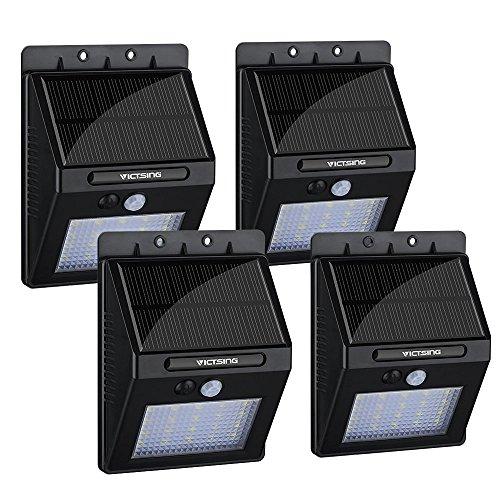 4 lámparas solares de pared VicTsing (sensor de luz y movimiento)