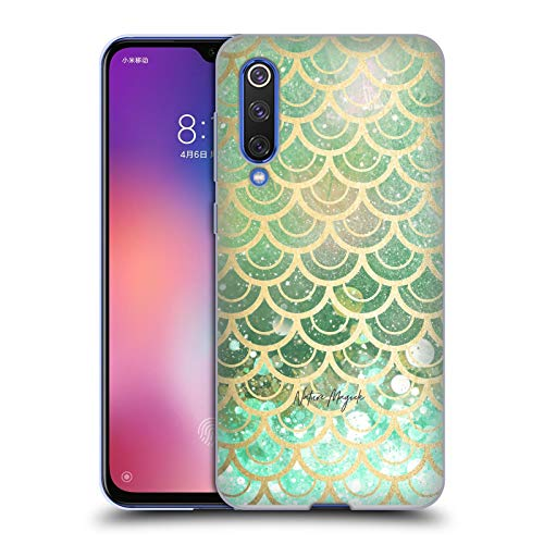 Official Nature Magick Emerald Green Teal Golden Mermaid Gold Scales Soft Gel Case Compatible for Xiaomi Mi 9 SE
