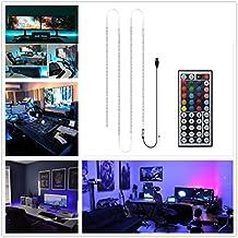 Alight House TV retroilluminazione RGB Luce LED Kit striscia notturna con 3 M Nastro Adesivo e telecomando 44 tasti per HDTV, PC, Notebook, Monitor decorazione