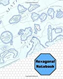 Hexagonal Notebook: Gaming Small Hex Paper Notebook, Blank, Light Grey Hex, Battle Strategy, Mapping, Sketches, Drawing, 7.5X9.25 in. (19.05X23.5 cm.), Softcover, Matte Book