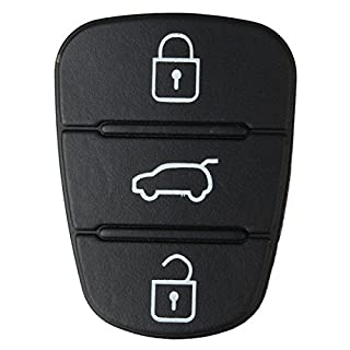 ADAALEN Schlüsselgehäuse mit 3 Tasten für Hyundai I10 I20 I30 Klappschlüssel