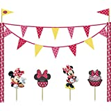 Partido Ênico Cafe Disney Minnie mouse Cake Decoración