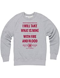 Official Game of Thrones - Fire and Blood Quote Organic Sweat-shirt, Homme