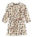 Ruth Wang Kleinkind Baby Winter Fleece mit Kapuze Bademäntel Schlafanzüge Nachtwäsche Morgenmantel Gelb Leopard 130cm