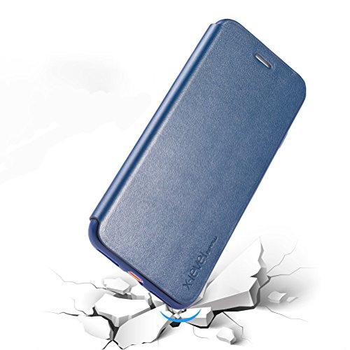 """MOONCASE iPhone 7 Plus Hülle, Prämie PU Leder [Stoßdämpfende] TPU Innen Schale Tasche Schutzhülle Standfunktion Case Cover für iPhone 7 Plus 5.5"""" Gold Schwarz"""