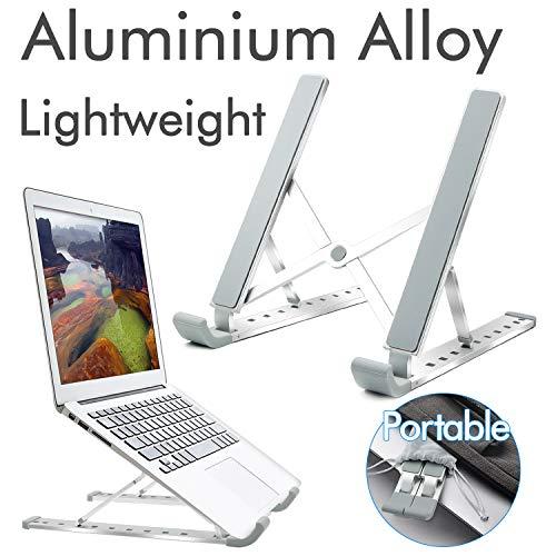 RioRand Supporto Portatile per Laptop Supporto da scrivania Pieghevole Universale ventilato per MacBook e Notebook in Alluminio a 9 velocità Regolabile in Altezza