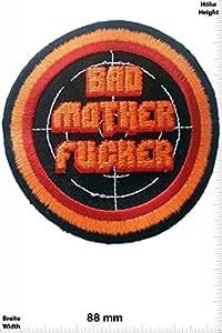 Patches - Bad Mother Fucker - Biker - Rocker - Chopper - Vest - Iron on Patch - Applique embroidery Écusson brodé Costume Cadeau- Give Away