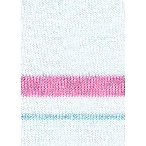 LEIBER Damen-Hose - weiß - Schrittlänge ca. 80cm - weiß/rosa - Größe: 46
