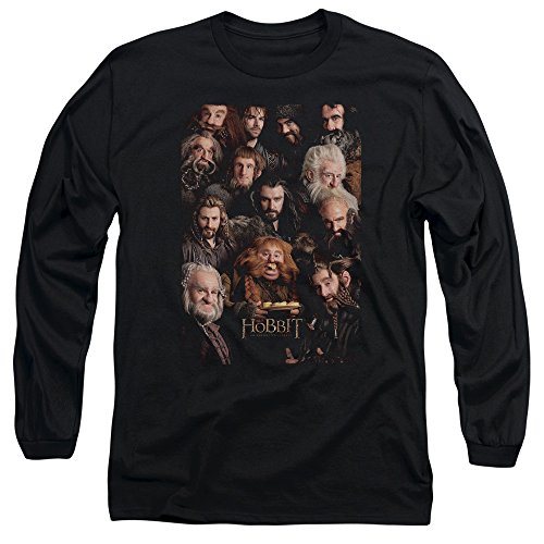 The Hobbit Dwarves Poster Erwachsene Lange Ärmel T-Shirt Größe L schwarz