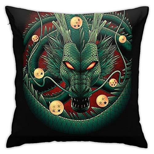 Greatbe Wurfkissenbezüge Dragon Ball Z Beide Seiten Drucken Reißverschlussabdeckung Für Couch Sofa Decor Kissenbezüge 18 X 18 Zoll (Unter Dragon Z $10 Ball)