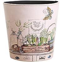 Papierkörbe, OviTop Vintage Papierkorb Wasserdicht Haushalt Leder Mülleimer Dekorativ Papierkorb für Kinderzimmer/ Schlafzimmer/ Küche/ Wohnzimmer/ Büro