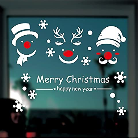 Negozio finestra adesivi parete adesivi Natale decorazione festivo camera decorazione azienda negozio di decorazioni di Natale,Re: 58 * 47cm