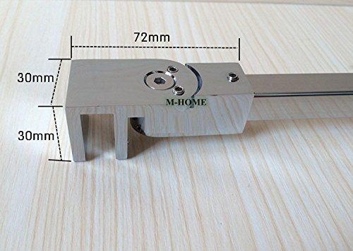 51ODQKwQ9KL - Barras de apoyo de la pared al vidrio para colocar paneles de puerta de ducha, sin marco, acero inoxidable, para vidrios de 6mm a 10mm de grosor de M-Home