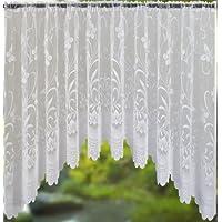 Mirabel - Visillo con encaje floral de mariposas - Con jareta - 254 cm de ancho x 137 cm de largo
