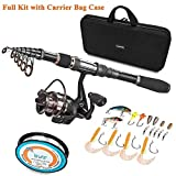 PLUSINNO Angelrute und Rolle Combos Full Kit, Spinning Fishing...