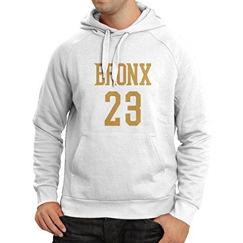 Felpa con cappuccio Bronx 23 - Moda in stile di strada Bianco Oro