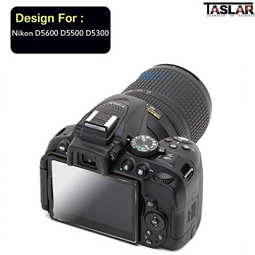 Taslar Tempered Glass Screen Guard Protector for Nikon D5600 D5500 D5300 Camera (Transparent)