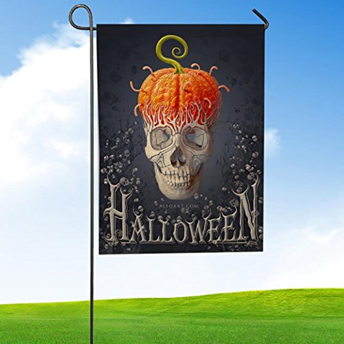 cinnamou Garden Flag-Halloween Kürbis Dekorationen-Home Garden Outdoor Dekoration-Wetterfeste-Garten-Flagge (B)
