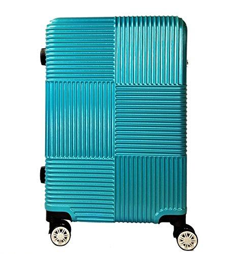 Reisekoffer Hartschale QTC Siegen Koffer M / 57cm Boardcase Reise Tasche Koffer Handgepäck Case (Türkis-Metallic)