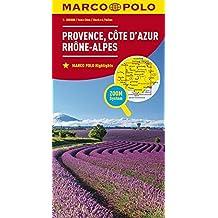 MARCO POLO Karte Frankreich Provence, Côte d'Azur, Rhône-Alpes 1:300 000 (MARCO POLO Karten 1:300.000)