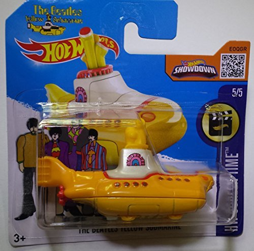 2016 HOT WHEELS HW SCREEN TIME 5/5 THE BEATLES YELLOW SUBMARINE 225/250 INTERNATIONAL SHORT CARD by Hot Wheels by Hot Wheels