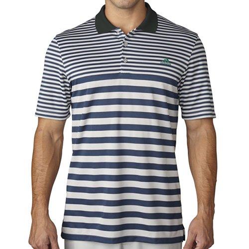 Climacool Mesh-golf-polo-shirt (adidas Climacool Mesh Stripe Polo, Herren, Mineral Blue/Stone, Medium)