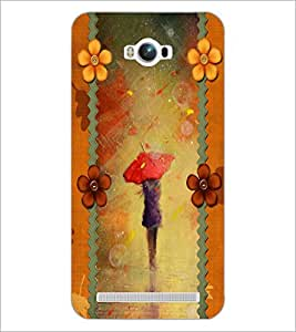 PrintDhaba Painted Girl D-2688 Back Case Cover for ASUS ZENFONE MAX ZC550KL (2016) (Multi-Coloured)