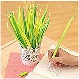 Oyedens12pcs a forma di foglie, erba di prato a lama in silicone, penna Office School Supplies promozione regalo