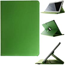 Becool - Funda carcasa giratoria tipo libro bq aquaris m10 bebook función soporte [360 grados] de rotación, verde