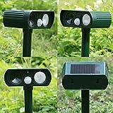 #5: Rrinmin New Ultrasonic Wave Solar Powered PIR Rat Dog Fox Bird Repellent Infrared Sensor Animal Deterrent Repeller For Outdoor