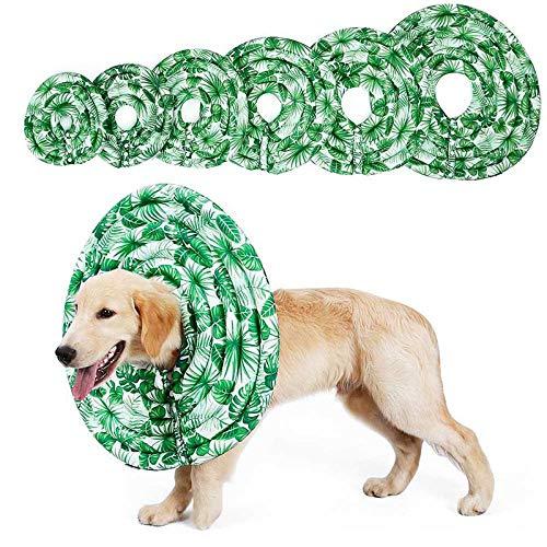 AOLVO Collar de cono de perro - Collar de recuperación ajustable para perros gatos, lavable a máquina, perfecto para dormir, anti picaduras/lamidas, collar para mascotas después de la cirugía