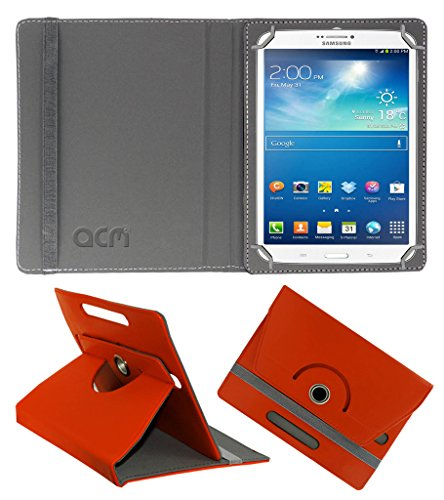 Acm Rotating 360° Leather Flip Case for Samsung Galaxy Tab 3 T311 Cover Stand Orange  available at amazon for Rs.159