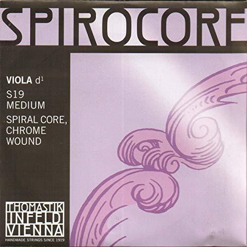 Thomastik Einzelsaite für Viola 4/4 Spirocore - D-Saite Spiralkern Chromstahl umsponnen, mittel