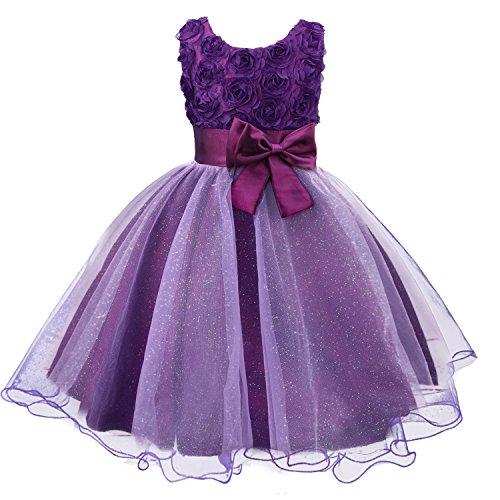 eid Kinder Kleider Prinzessin Festkleid Hochzeit Brautkleid Geburtstag Abendkleid Kommunionskleid von Discoball® (Blumen-mädchen-hochzeits-kleider)